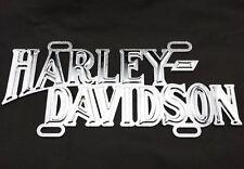 Harley Davidson Motorcycles Die Cast Cut Out Licensed Metal License Plate Tag