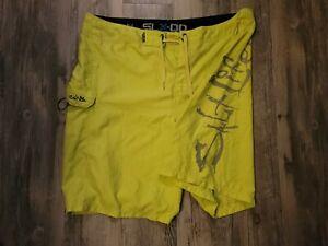 Salt Life Board Shorts Mens 40 Yellow Swim Trunk Bathing Suit Swimming Fishing