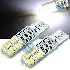 2 Led T10 Lampade Gel Silica 24 SMD No Errore Canbus BIANCO Xenon Lampadine W5W.