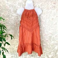 FREE PEOPLE Elisa Tunic Lace Top Paprika Strappy Intimatley  Size Medium NWT