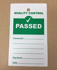 Quality Control QC Passed Plastic Tags - Pack of 10