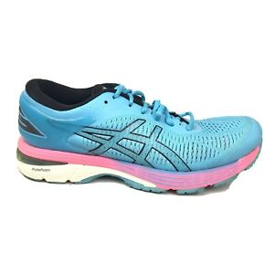 Asics GEL-Kayano 25 Running Shoes Womens Size 9 Blue Pink Sneakers 1012AO26
