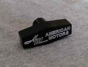 AMC Rambler Custom Billet Aluminum Air Cleaner Wing Nut  Black Anodized  AM Logo