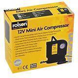 12v Mini Air Compressor Rolson 250PSI Tyre Inflator Car Bike Bed Pump Cigarette