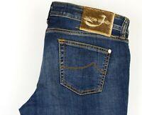 Jacob Cohen Herren Slim Handgefertigte Luxus Jeans Größe W33 L32 ADZ171