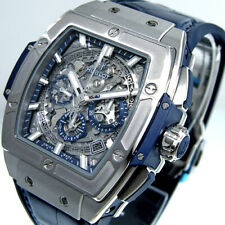 HUBLOT 42 mm 641.NX.7170.LR TITANIUM SPIRIT BIG BANG CHRONOGRAPH BLUE LEATHER