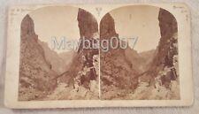 Antique W.H. Jackson Stereoview Card Colorado Railroad Railway