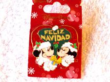 Disney * MICKEY & MINNIE - FELIZ NAVIDAD * Sparkle Holiday Pin