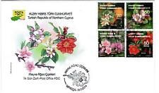 2014 TURKISH CYPRUS FRUIT TREE FLOWERS - OFFICIAL FDC