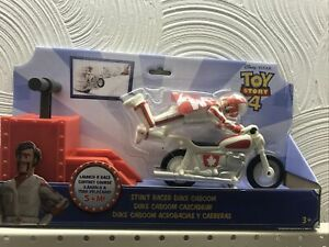 Disney Pixar Toy Story 4 Stunt Racer Duke Caboom with Bike & Launcher Toy GFB55