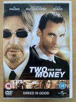 Deux Pour L'Argent DVD 2005 SPORTS Drame Largeur / Al Pacino + Matthew