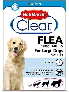 Bob Martin Clear   Flea Tablets for Large Dogs (11kg+)   Dogs over 11kg