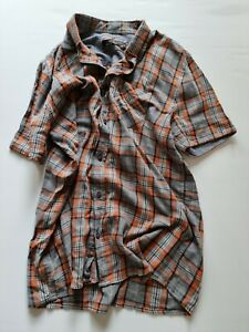 Mens 19 ninety:one short sleeve flannel shirt XL