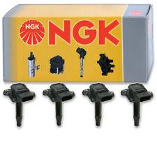 4 pcs NGK Ignition Coil for 2000-2001 Audi TT Quattro 1.8L L4 - Spark Plug ov