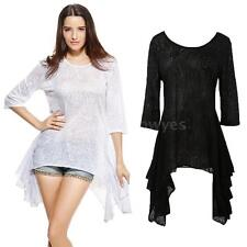 Polyester Semi Fitted Plus Size Tops & Shirts for Women