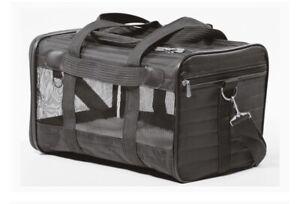 Sherpa Original Deluxe Pet Carrier Black Size Medium Travel Car Plane Cat Dog
