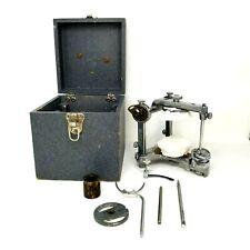 Vintage Hanau Dental Articulator Condylar case tools attachments 1941 dentist