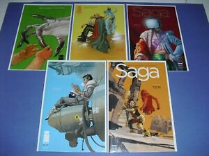 Saga 2 4 5 8 & 10 all VF/NM! Image 2012 Vaughan Staples 2nd 3rd print set 2800