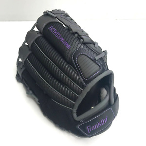 "Franklin Fastpitch Pro Series 22431-11 Left hand Glove 11"" Leather Black Gray"