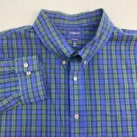 Croft & Barrow Button Up Shirt Men's 3XL XXXL Tall Long Sleeve Plaid Easy Care