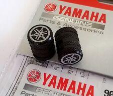 YAMAHA GENUINE WHEEL VALVE DUST CAP SET OF TWO KNURLED BLACK