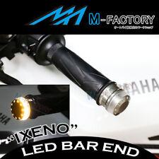 Fit Suzuki IXENO Amber Indicator LED Light Billet Titanium Bar Ends