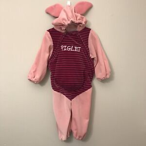 Disney Store Winnie The Pooh PIGLET Costume Outfit Size 18-24M Plush Belly Pig