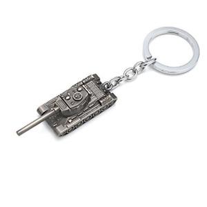 Mini kreative 3D Metall Tank schwere Waffe Schlüsselanhänger Keyring Keychain