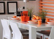 Tavolo allungabile 6 posti bianco lucido arredo casa cucina 140-190x90x78 cm