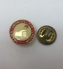 TRADE UNIONIST FOR LABOUR POLITICAL PARTY 1980 ENAMEL PIN BADGE