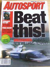 AUTOSPORT MAGAZINE MAR 1994 SENNA'S NEW WILLIAMS-RENAULT FERRARI FLY BOY ALESI