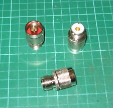 SO239 Socket to N-Type Plug Adaptor Gold contacts top quality (PL259 Female UHF)