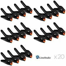 20Pc Photography Backdrop Support Spring Clamp Clip for Background Muslin Canvas
