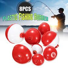 8Pcs/set Round Fishing Bobber Push Button Fishing Floats Combo Tackle