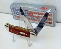 NEW Case XX Smooth Chestnut Bone Pocket Hunter Knife #28907 Made in USA