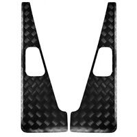 Heavy Duty Wing Top Protectors - 3mm Chequer Plate -Powdercoated Black– Defender