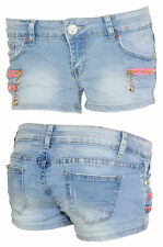 Hot Pants Damen Shorts Jeansshorts Simply Chic Jeans Hose pink Freizeit 36 38 40