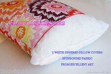 USA 2 ZIPPER STANDARD SIZE PILLOW COVERS WHITE  PROTECTOR COVER NEW ALLERGENIC