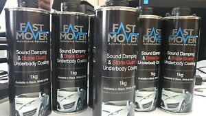 Fast Mover Tools, Stone Chip, Black, 1kg 6 X Bottles