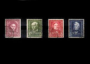 BRD_1098 Nr. 117-120 ʘ von 1949 - Helfer der Menschheit