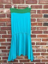 Anthropologie CAROLINA K Blue Green Halter Flowy Dress * RARE! S M Small Medium*