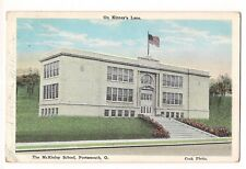 The McKINLEY SCHOOL Kinney's Lane PORTSMOUTH O.  Ohio Postcard 1942 Cook Photo