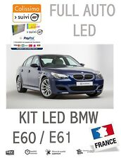 KIT 10 LED INTÉRIEUR BMW SÉRIE 5 E60 E61 ANTI ERREUR OBD BLANC PUR