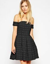 Polyester Party Textured Regular Size Dresses for Women