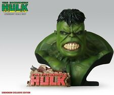 "SIGNED ""STAN LEE"" SIDESHOW EXCLUSIVE HULK LEGENDARY Scale Bust STATUE  AVENGERS"