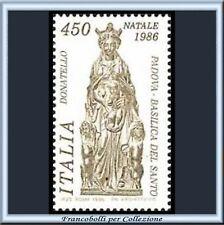 1986 Italia Repubblica Natale Donatello n. 1786 **