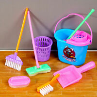 Kids Play Cleaner Housework Toys Set Children Sweep Cleaning Games Educatio W3P8