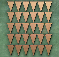 Triangolo 5 cm DUE FORI Bunting Laser Cut MDF Craft BIANCHI abbellimento
