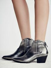 Free People Vista Verde Bootie Western by Vic Matie Metallic Sz 38 $348