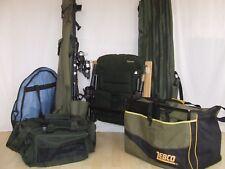 FULL COARSE & CARP FISHING SET UP rods reels chair luggage WYCHWOOD DAIWA GREYS